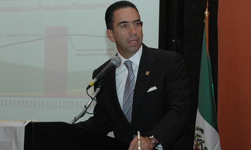 Javier Lozano, secretario del Trabajo, aseguró que en el IMSS se registraron 66,683 nuevos empleos. (Foto: Cortesía Secretaria del Trabajo)