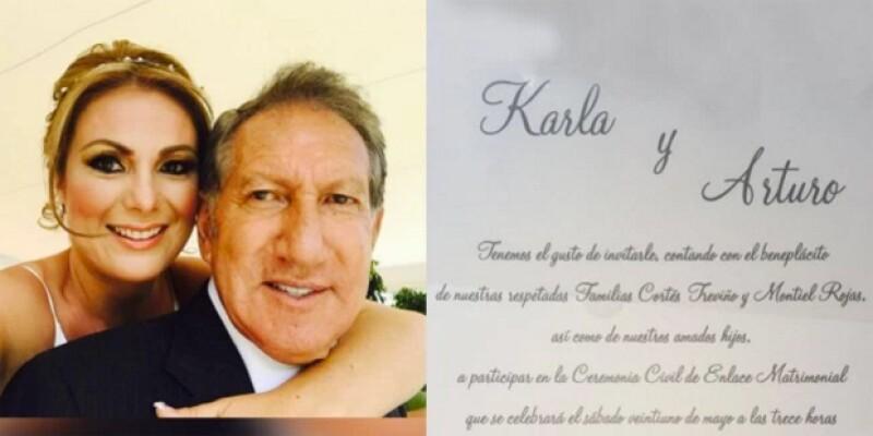 A sus 72 años de edad el ex gobernador del Estado de México se casó por cuarta ocasión. El matrimonio fue por lo civil con la michoacana Karla Cortés Treviño.