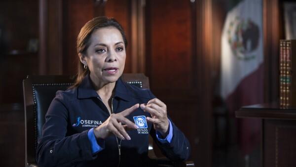 Josefina Vázquez Mota en casa de campaña