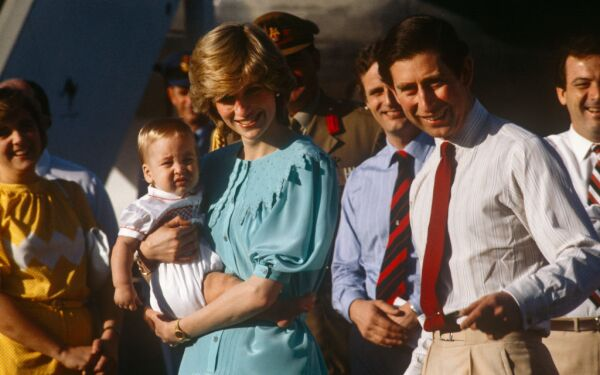 Lady Di, príncipe Carlos y William