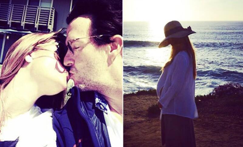 A pie de la imagen de su esposa embarazada, Fernando Landeros escribió: `4 bendiciones´.