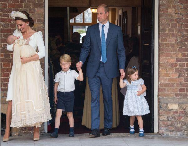 príncipe William, Kate Middleton y sus hijos