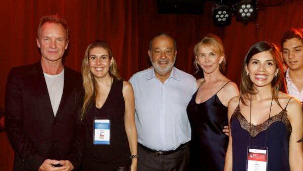 Sting y Carlos Slim