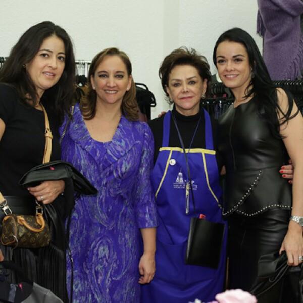 Cucu Carrillo,Claudia Ruíz Massieu,Adriana Salinas y Ana Paula Carrillo