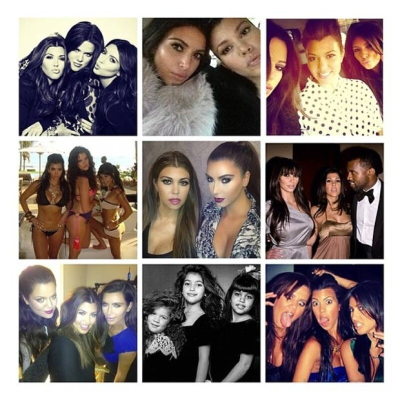 Kim también compartió diversas fotos de su big sister.