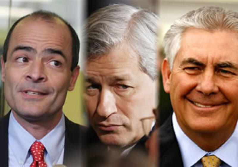 De izquierda a derecha: Carlos Brito (A-B InBev), Jamie Dimon (JP Morgan), Rex Tillerson (Exxon Mobile). (Foto: Especial)