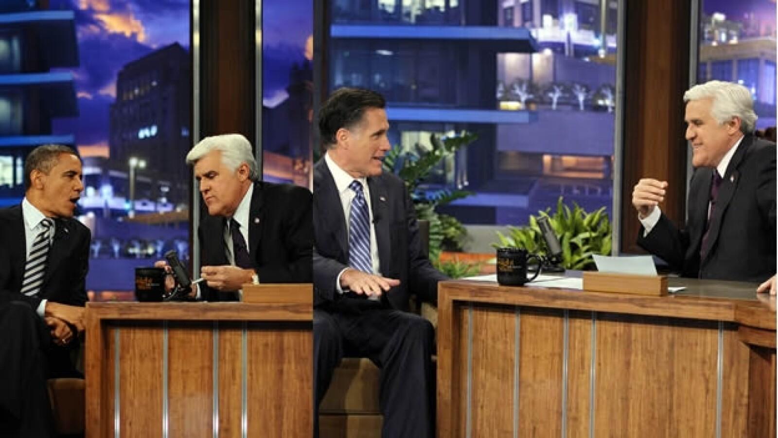 Obama Romney Jay Leno