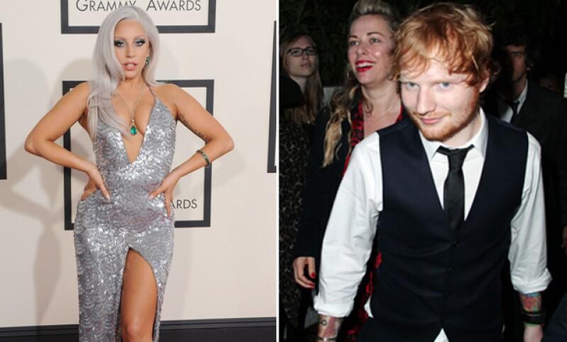 La cantante confundió al británico con un mesero durante la gala de premios celebrada este domingo en el Staples Center de Los Ángeles.