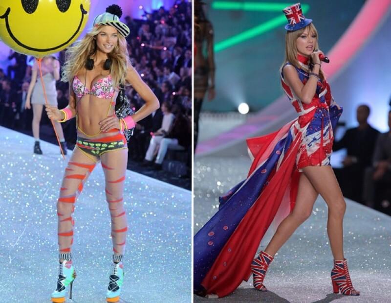 Jessica Hart, australiana de 27 años, no modelará más para la firma de lenceria luego de hacer comentarios poco favorables de la actuación de la cantante en el Fashion Show.