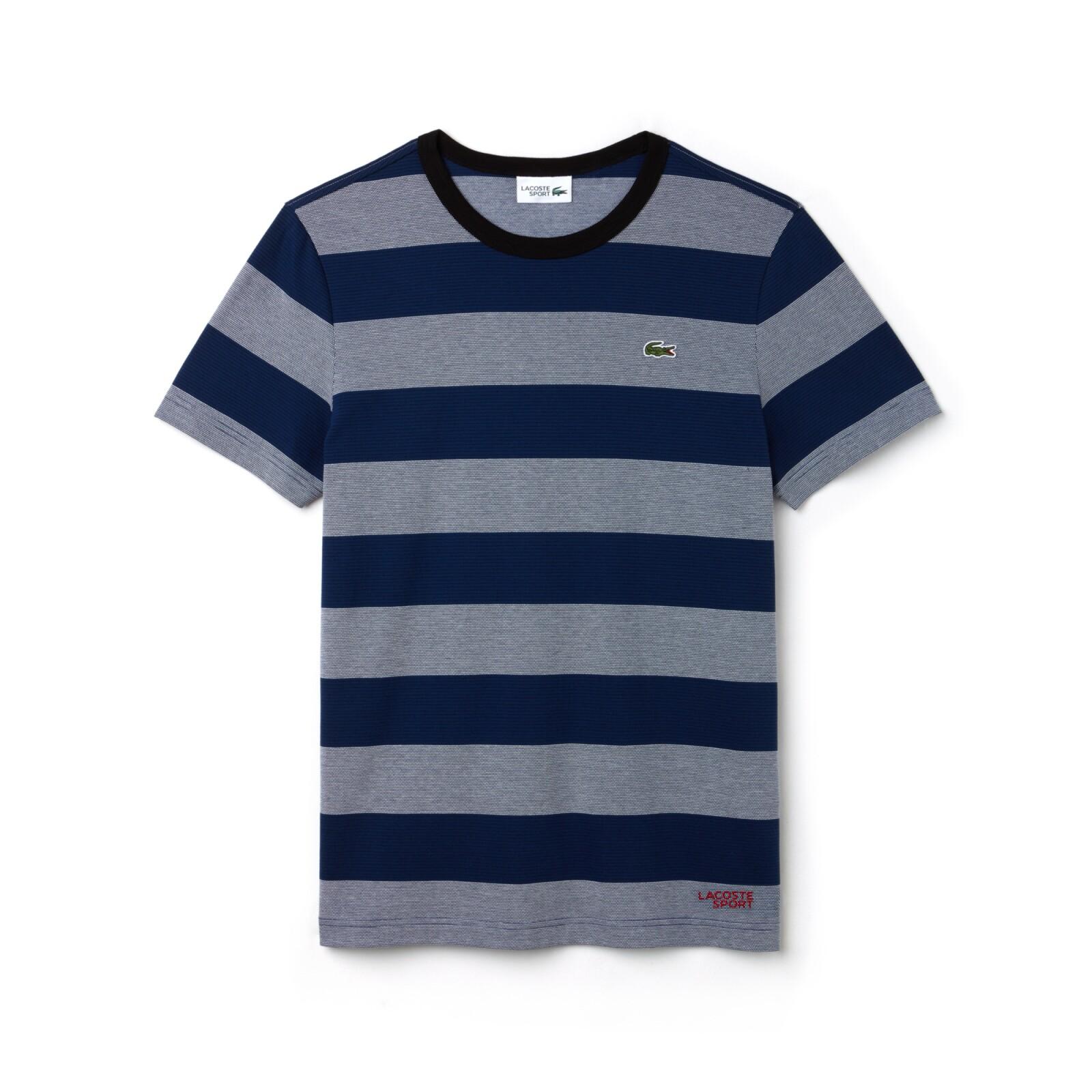 T-shirt con print de rayas
