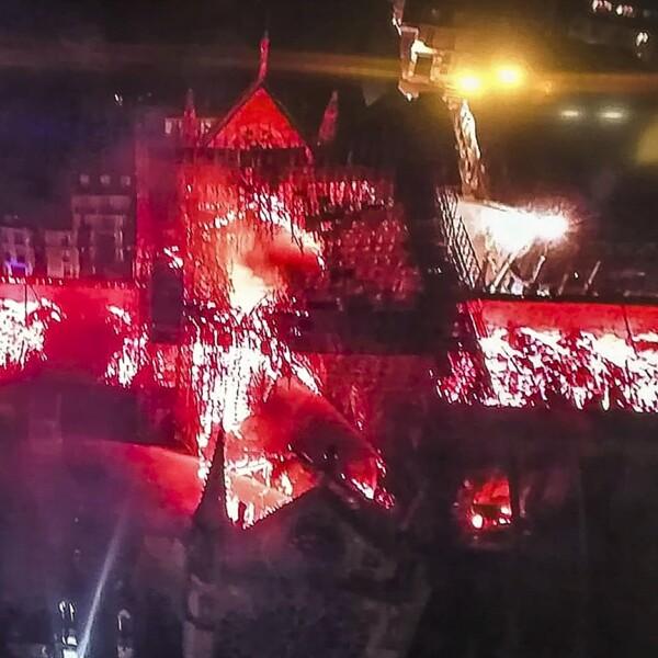 Incendio Notre Dame-Aérea