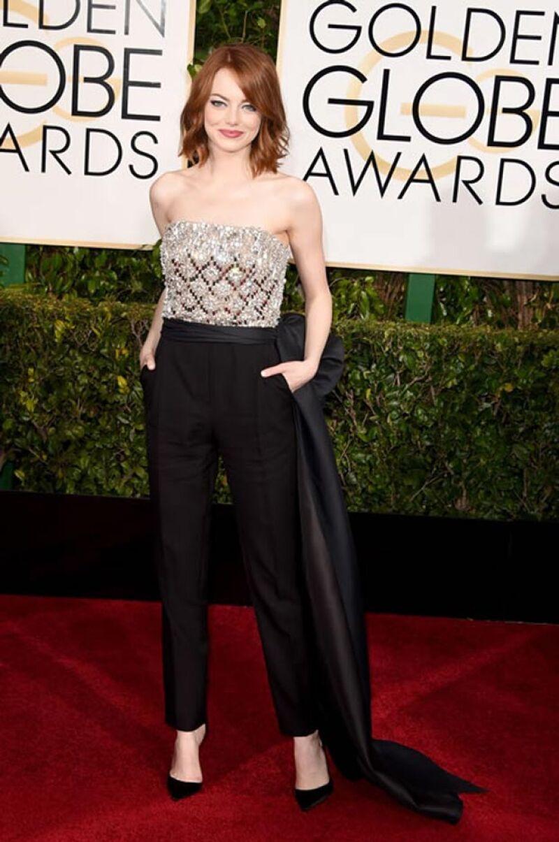 Emma celebró su nominación al lado de su mamá en NY.