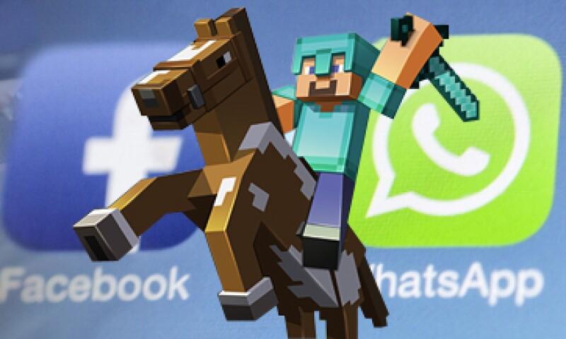 Minecraft y WhatsApp fueron la joya de la corona en adquisiciones este año. (Foto: Especial)