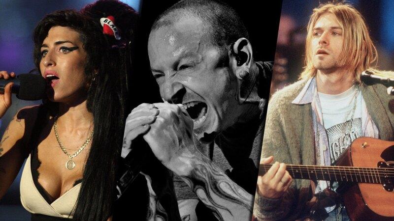 Amy Winehouse, Chester Bennington y Kurt Cobain