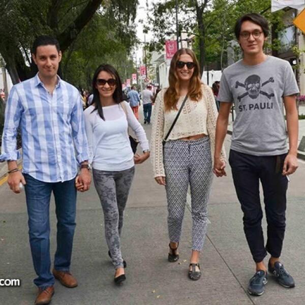 Enrique Zárate,Paola Rojas,Caitlin Lonn y Jonathan Quintanar.
