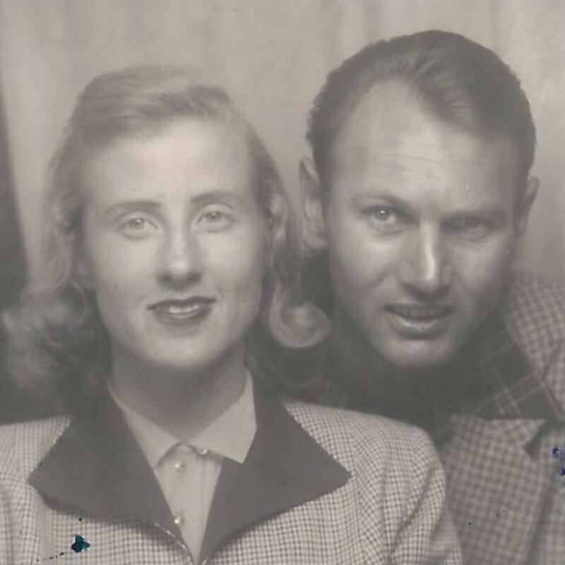 Melissa compartió una foto de sus abuelos en su juventud.
