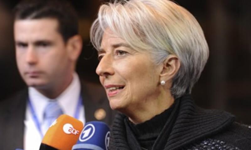 Christine Lagarde instó a otros países para ayudar a alaiviar la crisis de deuda.  (Foto: AP)
