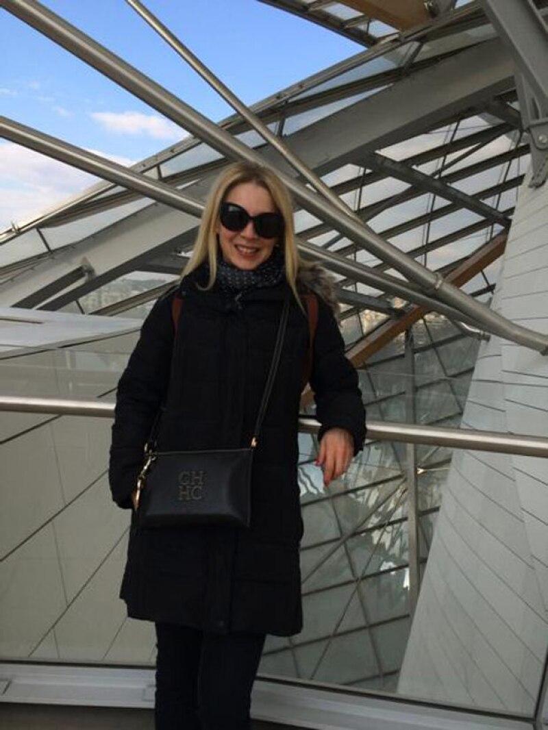 La guapa actriz visitó la Fundación Louis Vuitton, la cual fue inaugurada el 20 de octubre del año pasado.
