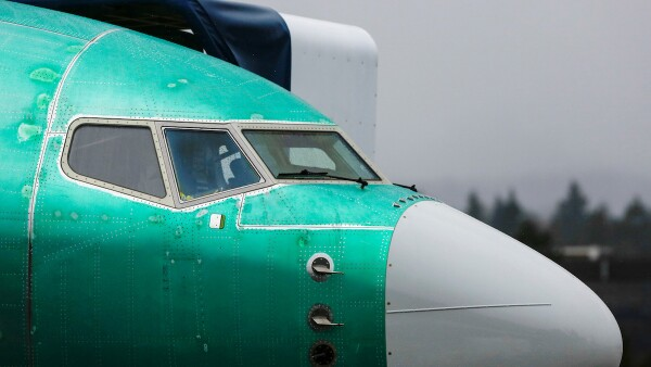 FILE PHOTO: A Boeing 737 Max aircraft is seen parked in a storage area at the company's production facility in Renton