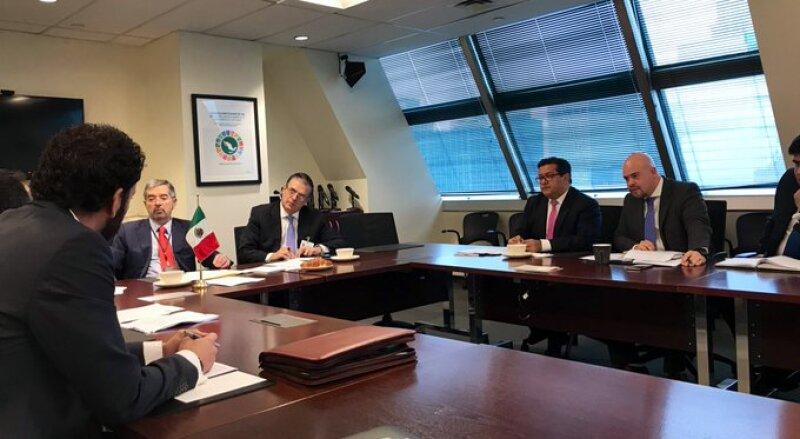Misión. Reunión de la comisión de mexicanos en la ONU.