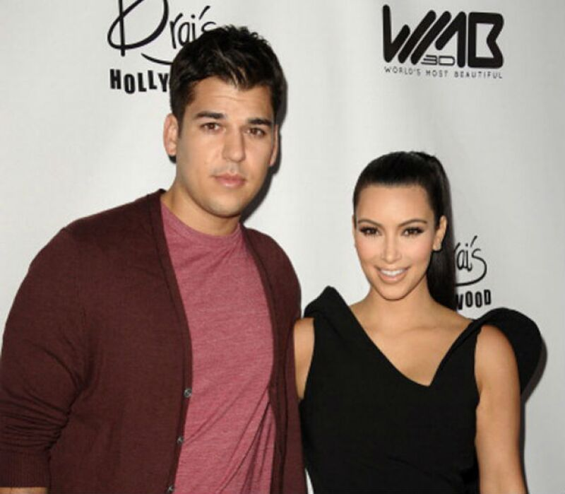Kim Kardashian y Rob en una fiesta de cumpleaños de la famosa en 2012.