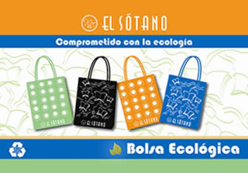 Las bolsas reutilizables del sótano son fabricadas en tela de polipropileno.  (Foto: Cortesía)