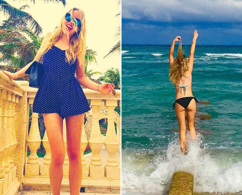Media hermana de Ivanka Trump, Tiffany de 21 años es hija del magnate estadounidense. Es fan de posar en los looks más sensuales en su cuenta de Instagram y quiere ser cantante.