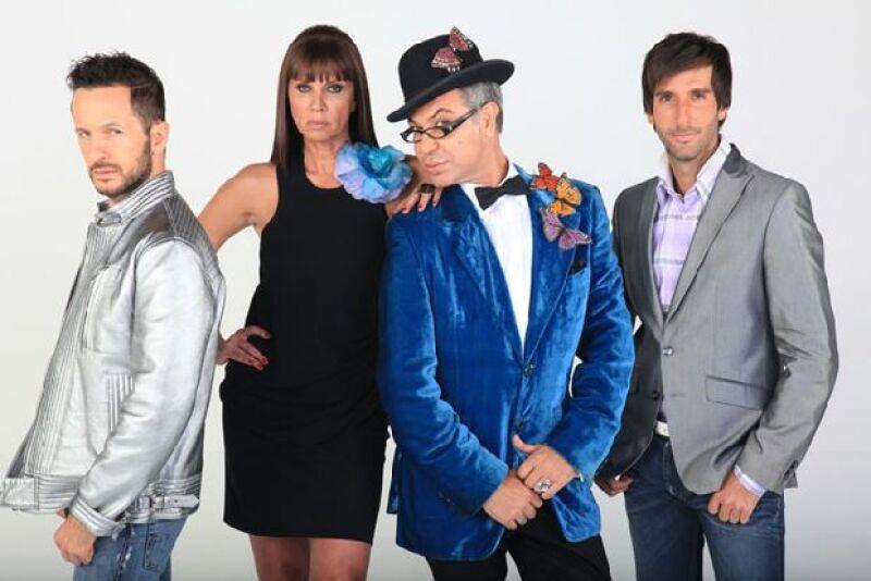 Óscar Madrazo, Glenda Reyna, Joe Lance y Allan Fiss forman parte del jurado de Mexico's Next Top Model.