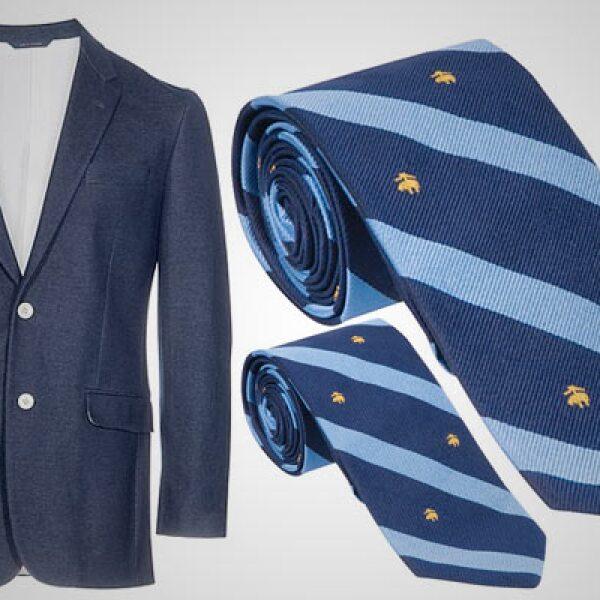 Un estilo más formal, con este 'blazer' que podemos combinar con una corbata de 100% seda.
