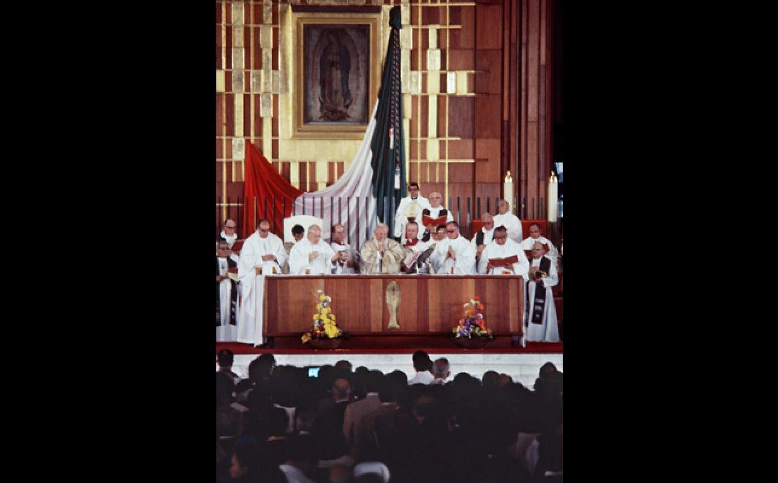 Su visita a la Virgen de Guadalupe era uno de los objetivos principales de aquella visita.