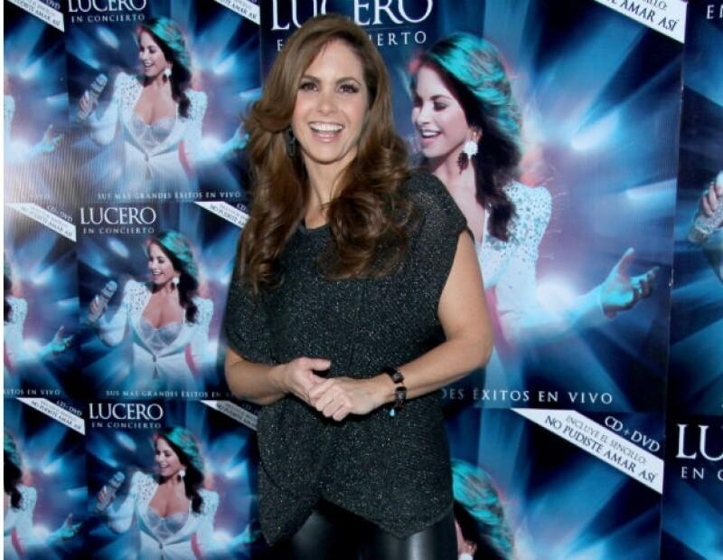 """Durante la presentación de su disco """"Lucero en concierto"""", la cantante y actriz afirmó sentirse """"muy completa""""."""