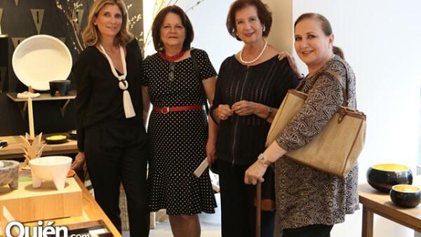 María Eladia Hagerman, María Moreno, Adriana Lambarri y Maruja González