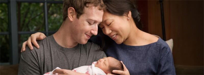 Con una emotiva fotografía y una carta, el creador de Facebook y su esposa anunciaron al mundo lo felices que estaban por recibir a su primogénita llamada Max.