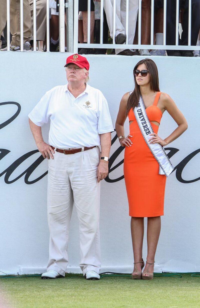 Después de que la llama hipócrita, Paulina Vega le respondió hoy a Donald Trump.