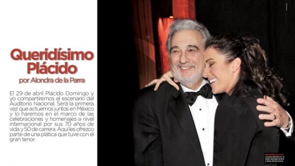 La directora de orquesta entrevistó, para esta edición de la revista Quién, al tenor con quien compartirá escenario hoy en la noche en el Auditorio Nacional.