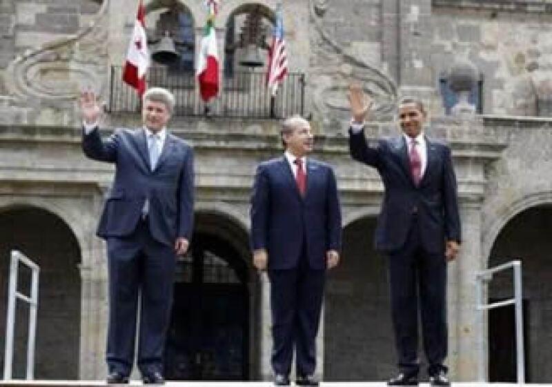 La cumbre trilateral reunió en Guadalajara a los mandatarios de Estados Unidos y México y Canadá. (Foto: Reuters)