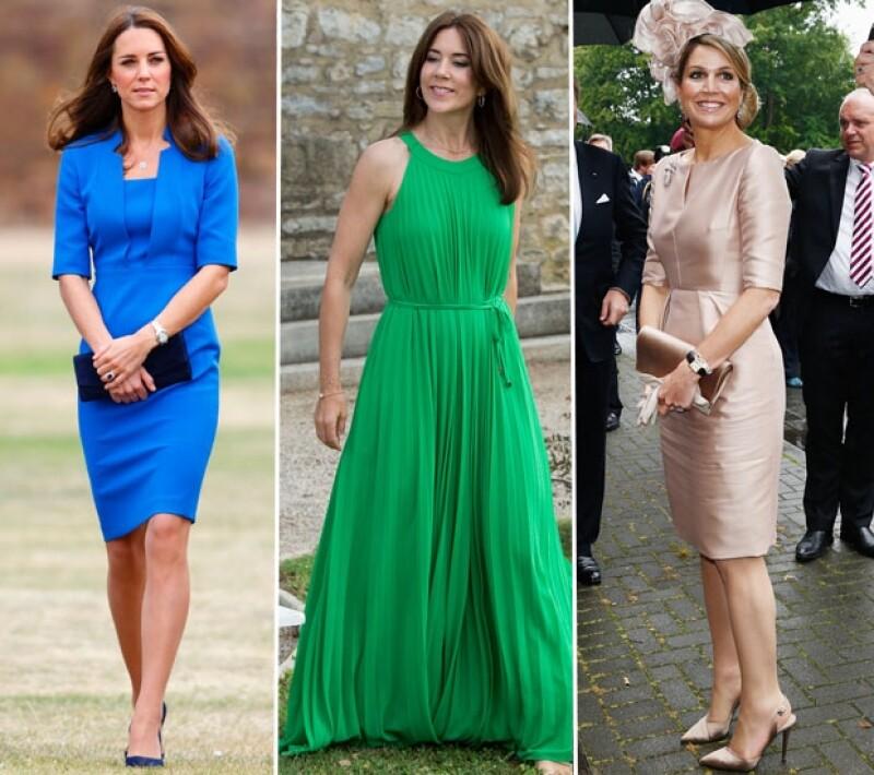 Kate Middleton, Mary de Dinamarca y Máxima de Holanda son las royals que engalanan la lista este 2014.