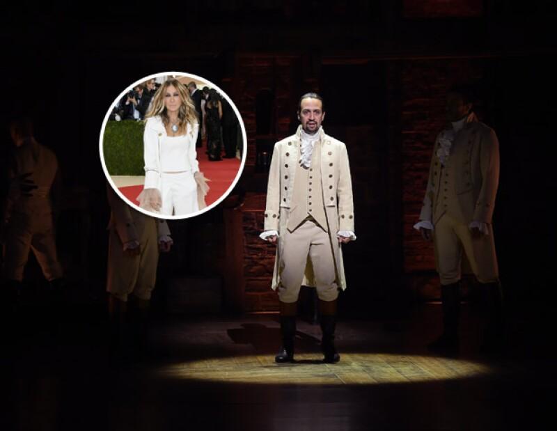 El traje de Sarah estuvo inspirado en el musical de Broadway, Hamilton.