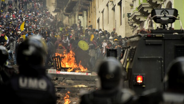 ECUADOR-ECONOMY-IMF-OIL-PROTEST-MARCH