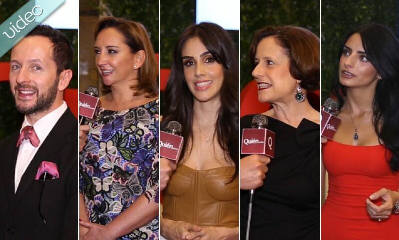Sandra Echeverría, Aislinn Derbez y Claudia Ruiz Massieu fueron algúnas de las muchas mujeres que engalanaron la alfombra roja del evento que la revista Quién realizó en su honor.
