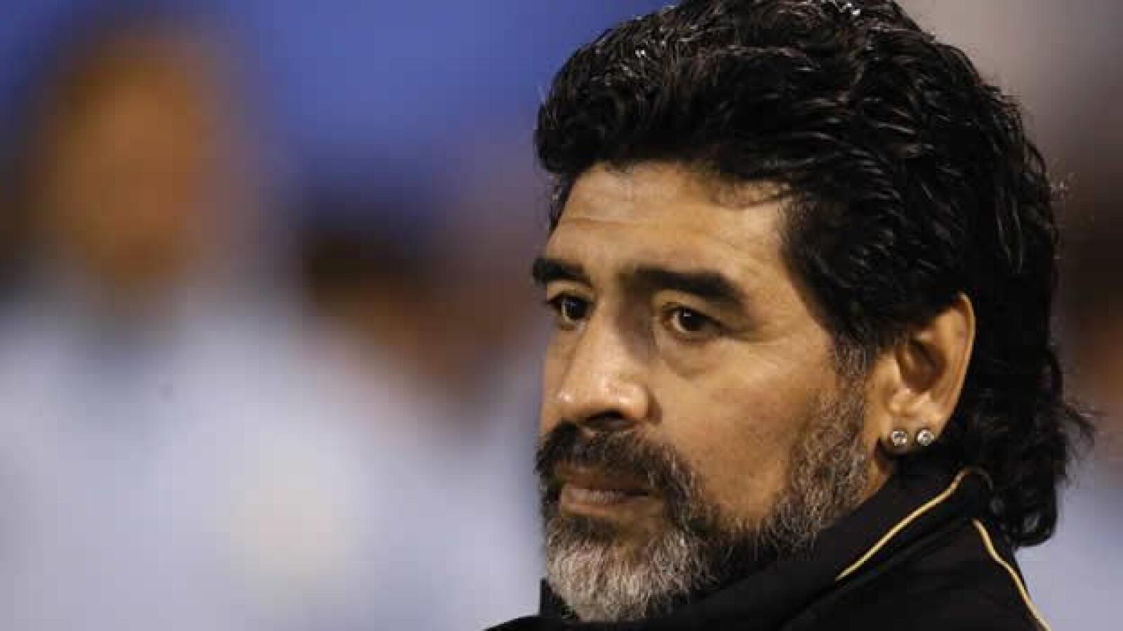 Recientemente, Maradona se dejó crecer la barba