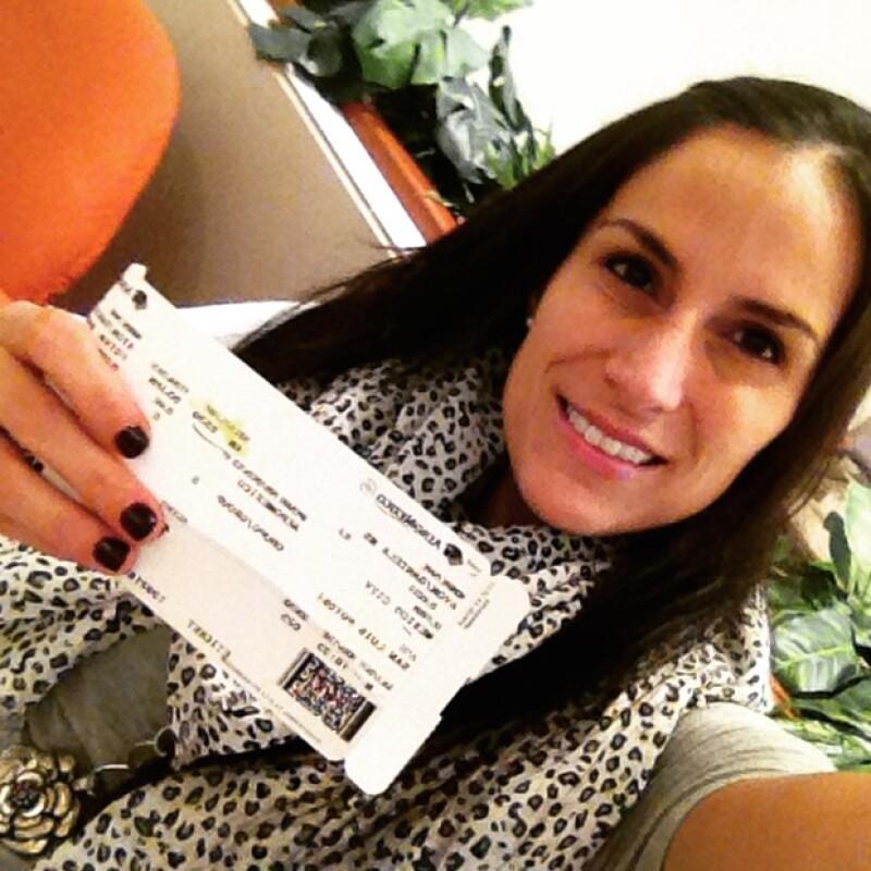 Daniela compartió en Instagram con sus alumnos de yoga y meditación que emprendería un viaje al extranjero.
