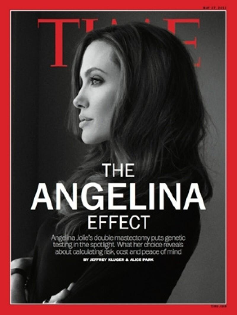 Angelina se volvió portada de muchos medios en el mundo.