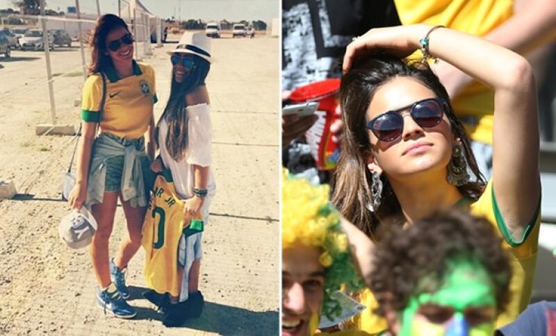 Bruna compartió previo al partido una imagen de su llegada al estadio. No ha parado de apoyar a Neymar en el Mundial.