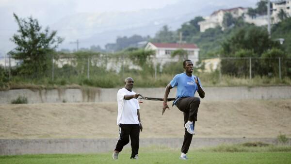 Glen Mills, el entrenador de Usain Bolt.