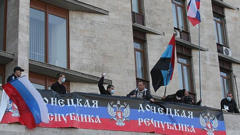 Prorrusos ciudad Ucrania Donetsk