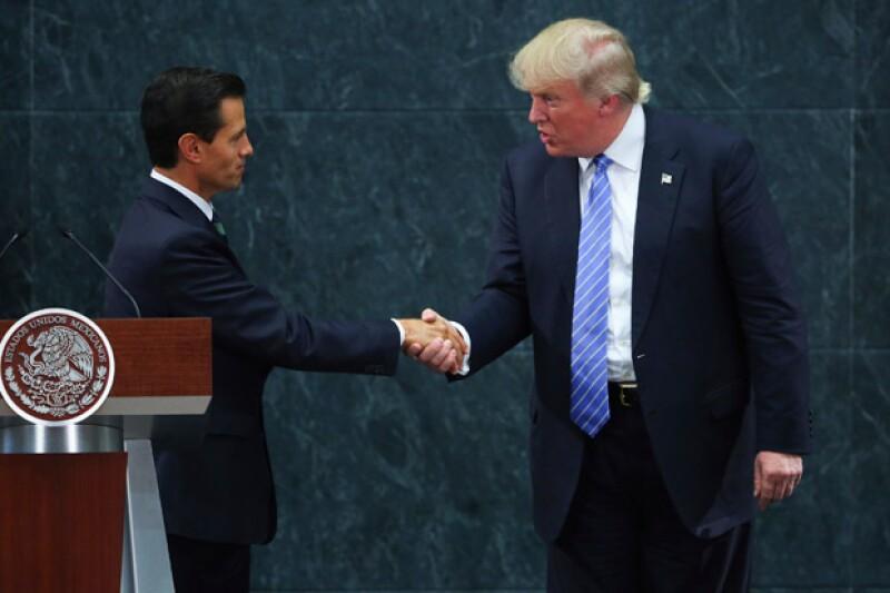 Este miércoles el candidato republicano y el mandatario mexicano se reunieron frente a los medios para hablar sobre lo que podría suceder si es que él ganara la presidencia de Estados Unidos.