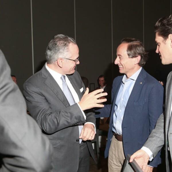 Diego Cosio, Eduardo Tricio y Alejandro Irarragorri
