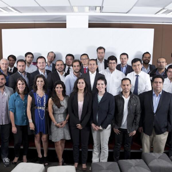 Los finalistas de Emprendedores 2014 se vieron por primera vez en las instalaciones de la revista Expansión.