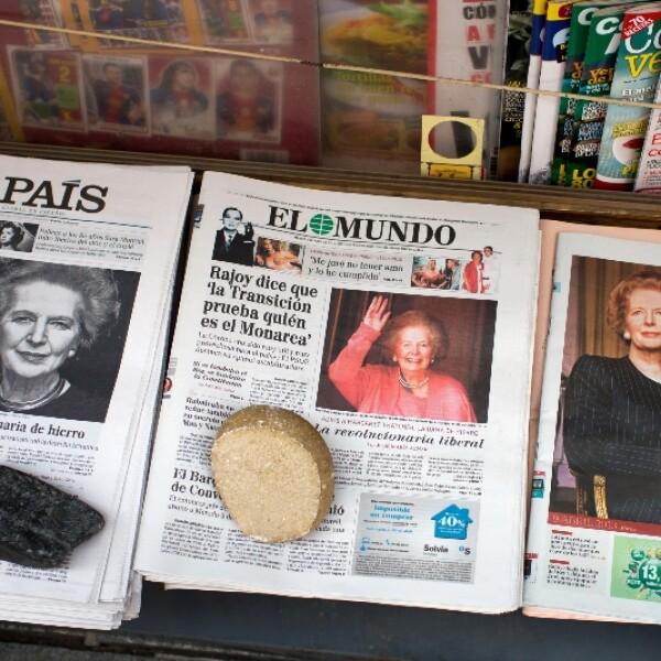 spain newspapers margaret tatcher getty